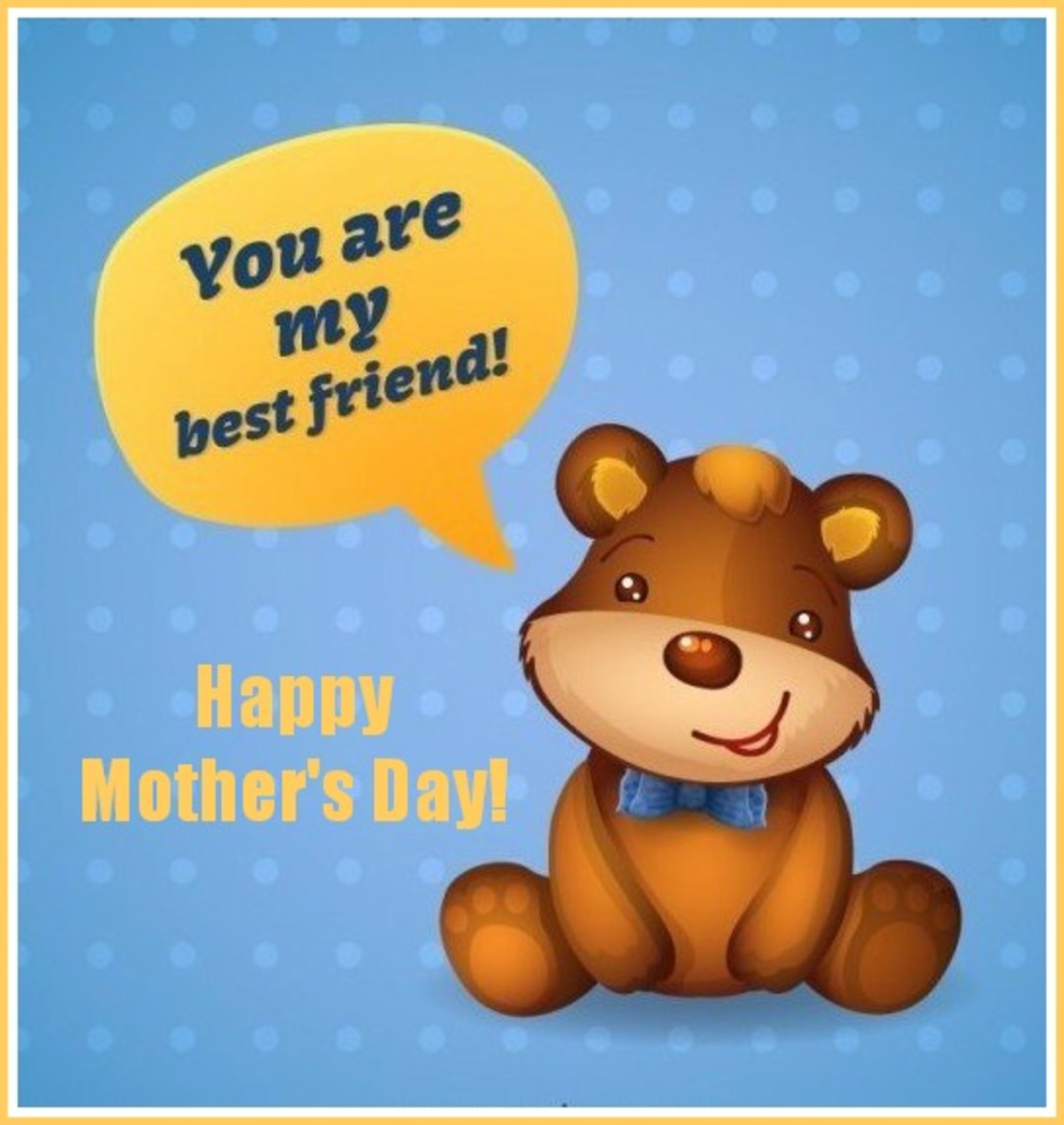 Mother's Day Card with Teddy Bear
