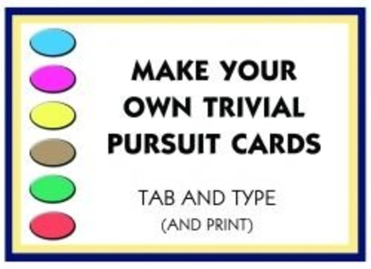 Make Your Own Trivial Pursuit Cards