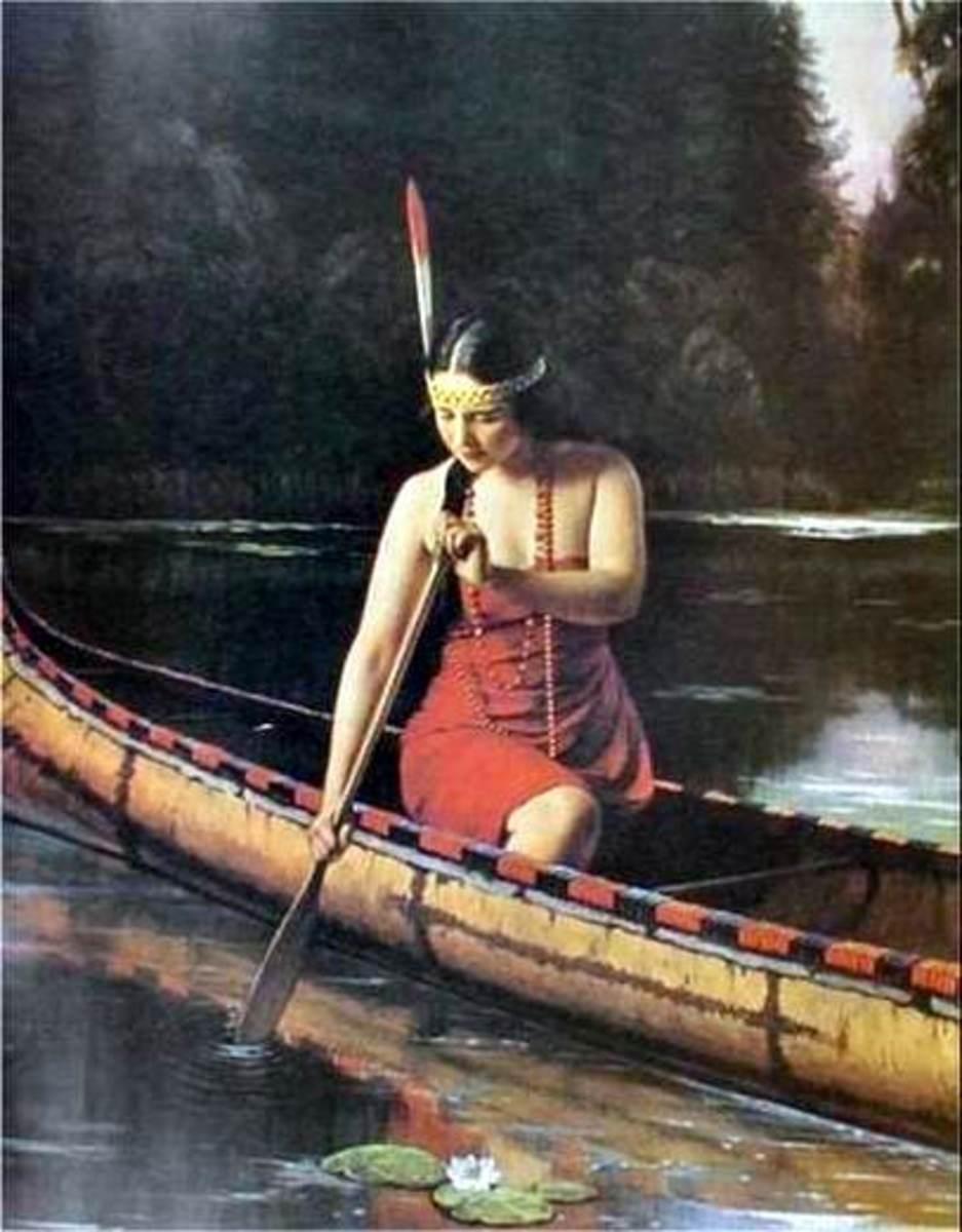 Indian maiden, unknown artist