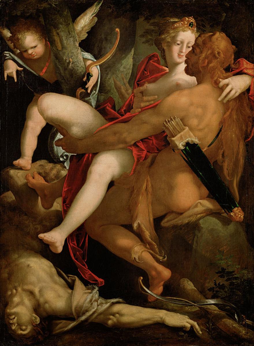 Heracles resues Deianira from Nessus