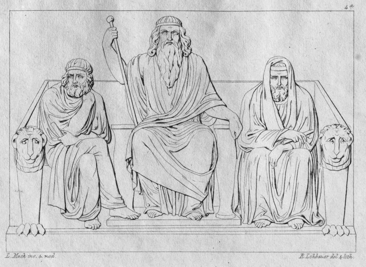 Minos, Sarpedon and Rhadamanthys - Judges of the Underworld.