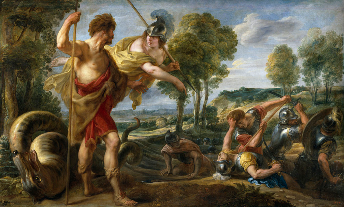 Cadmus and Athena with Spartoi