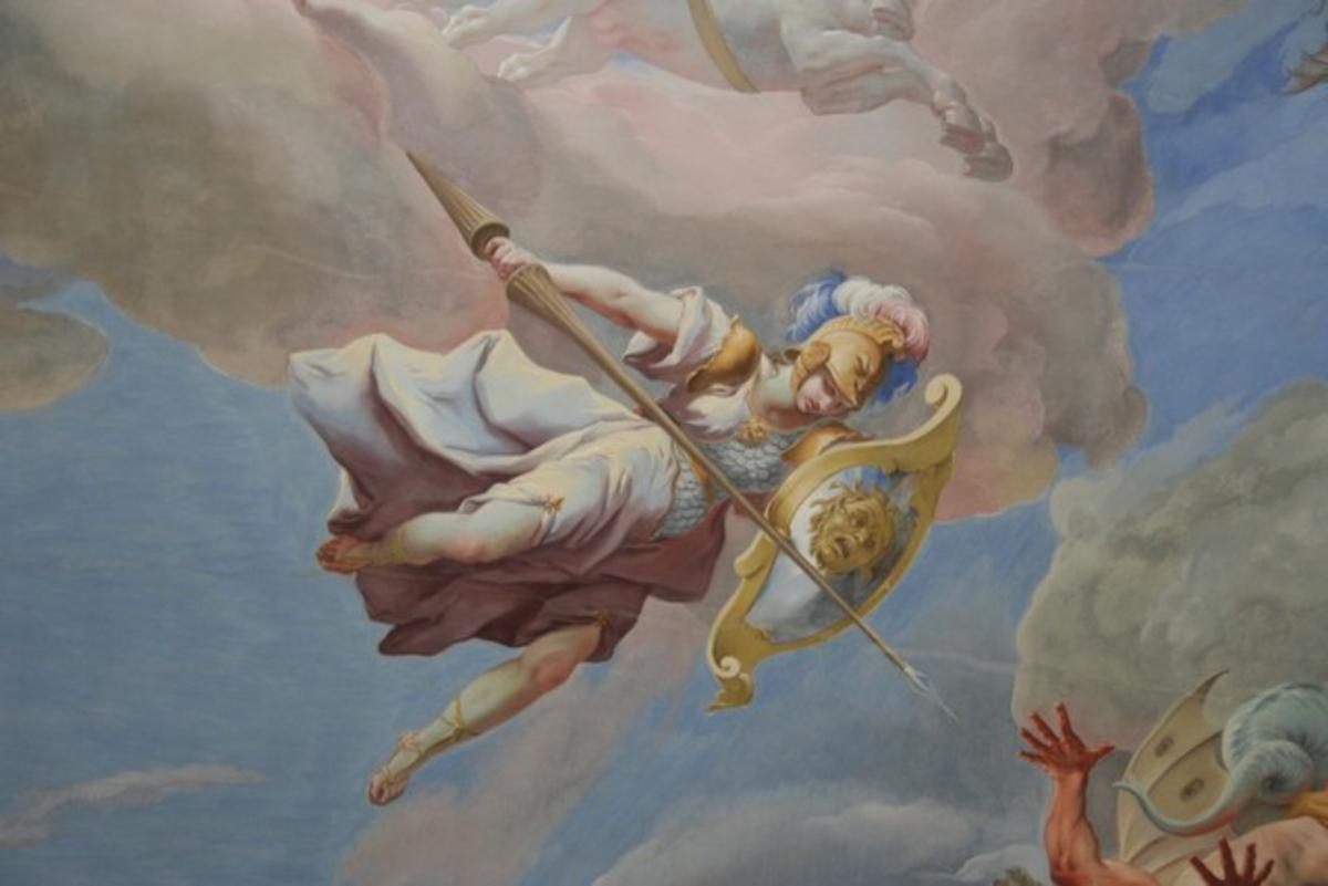 Athena with the Aegis