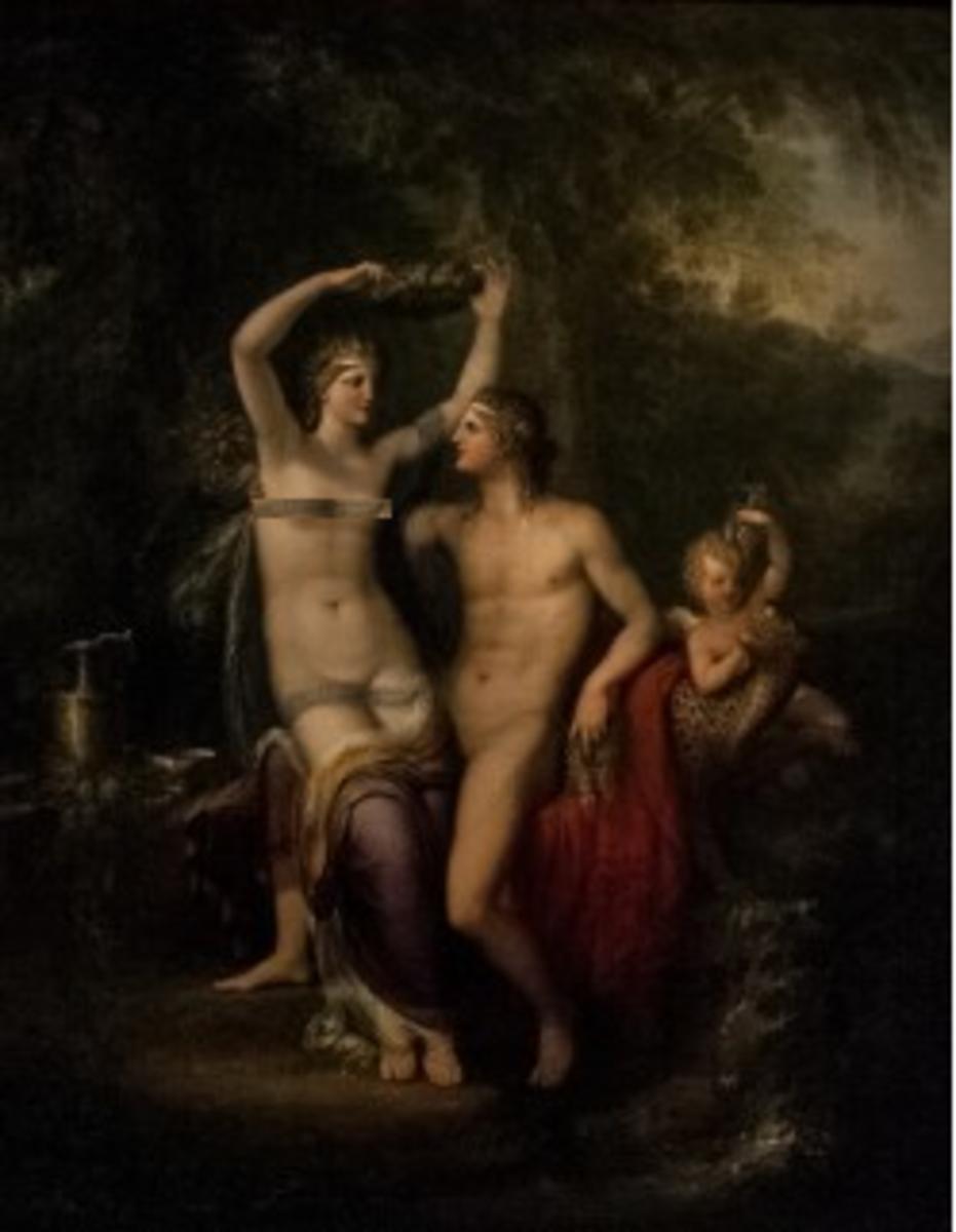 Dionysus claims Ariadne