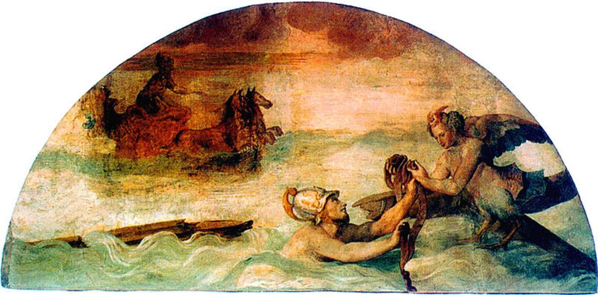 Leucothea with Odysseus