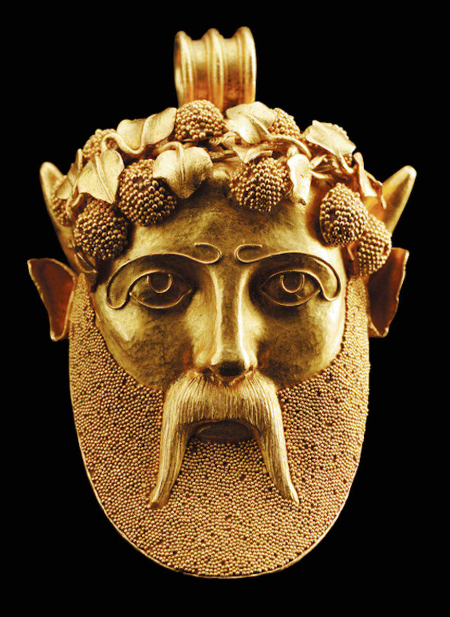 "Archeological Revival ""Bacchus"" pendant attributed to Castellan"