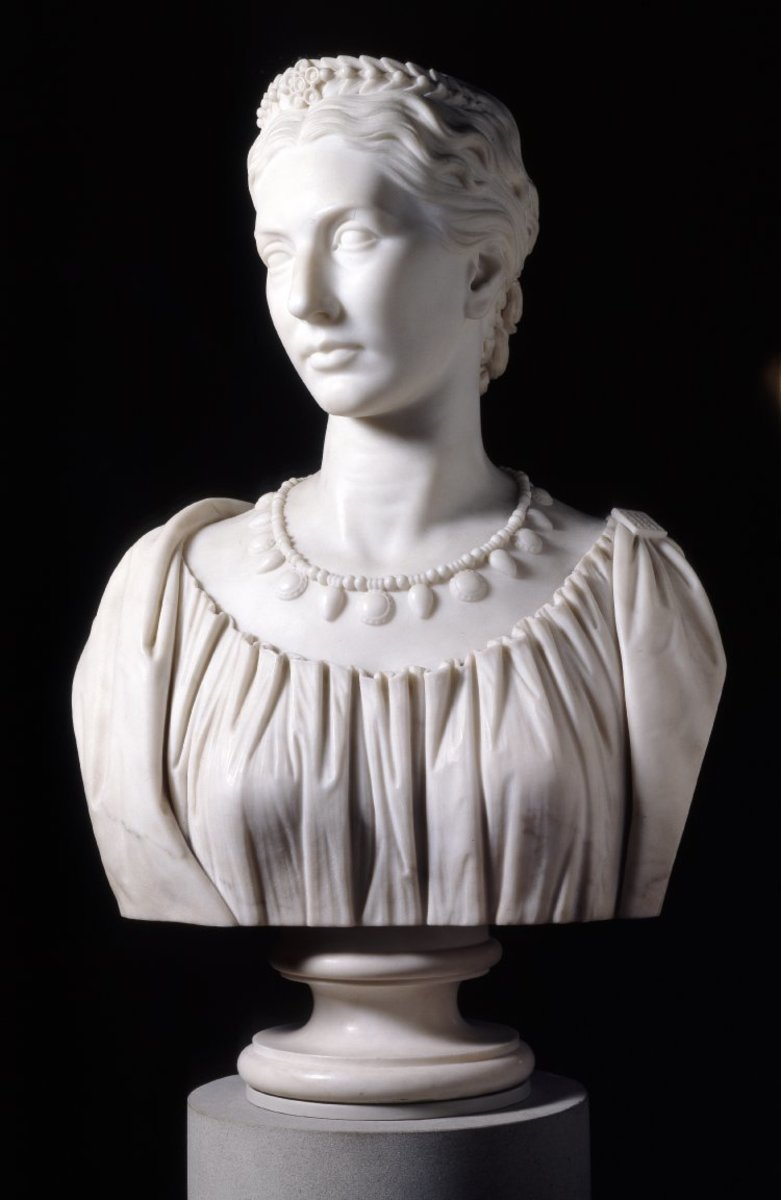 bust of Lady Layard from the British Museum