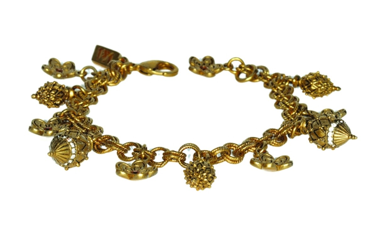 Inspired Castellani charm bracelet - inspired by a necklace from the Castellani family
