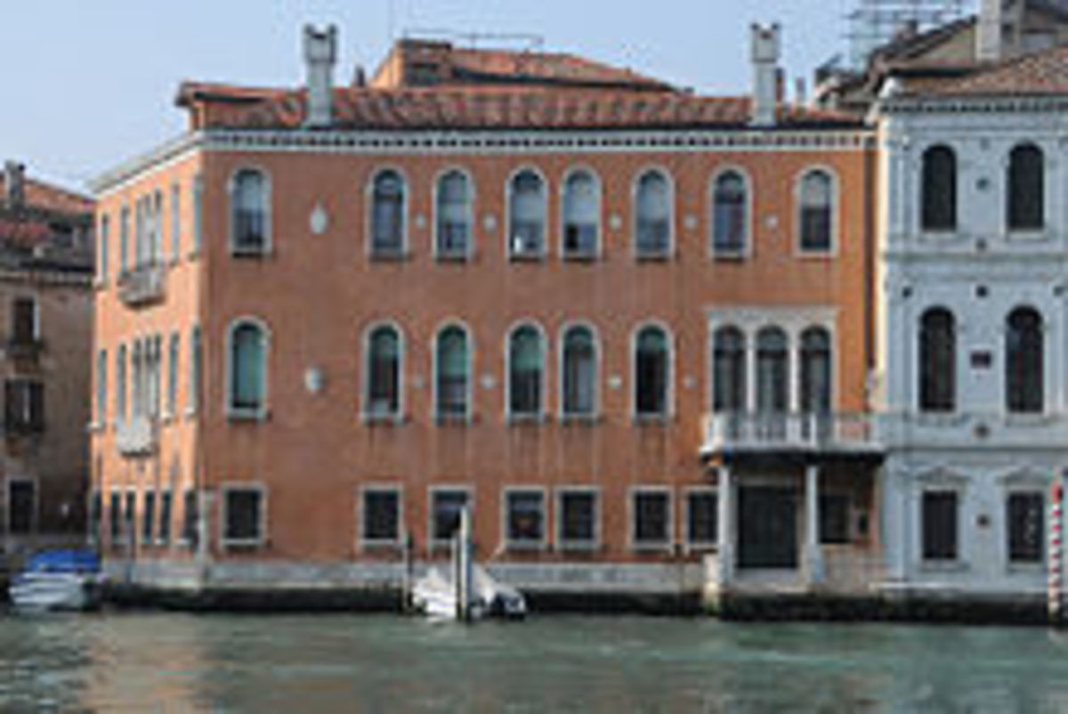 Ca' Cappello-Layard overlooking the Grand Canal - home of Lord Henry Layard and Lady Layard