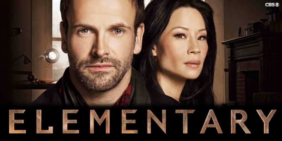 Elementary- showing the two main characters, Sherlock Holmes and Joan Watson.