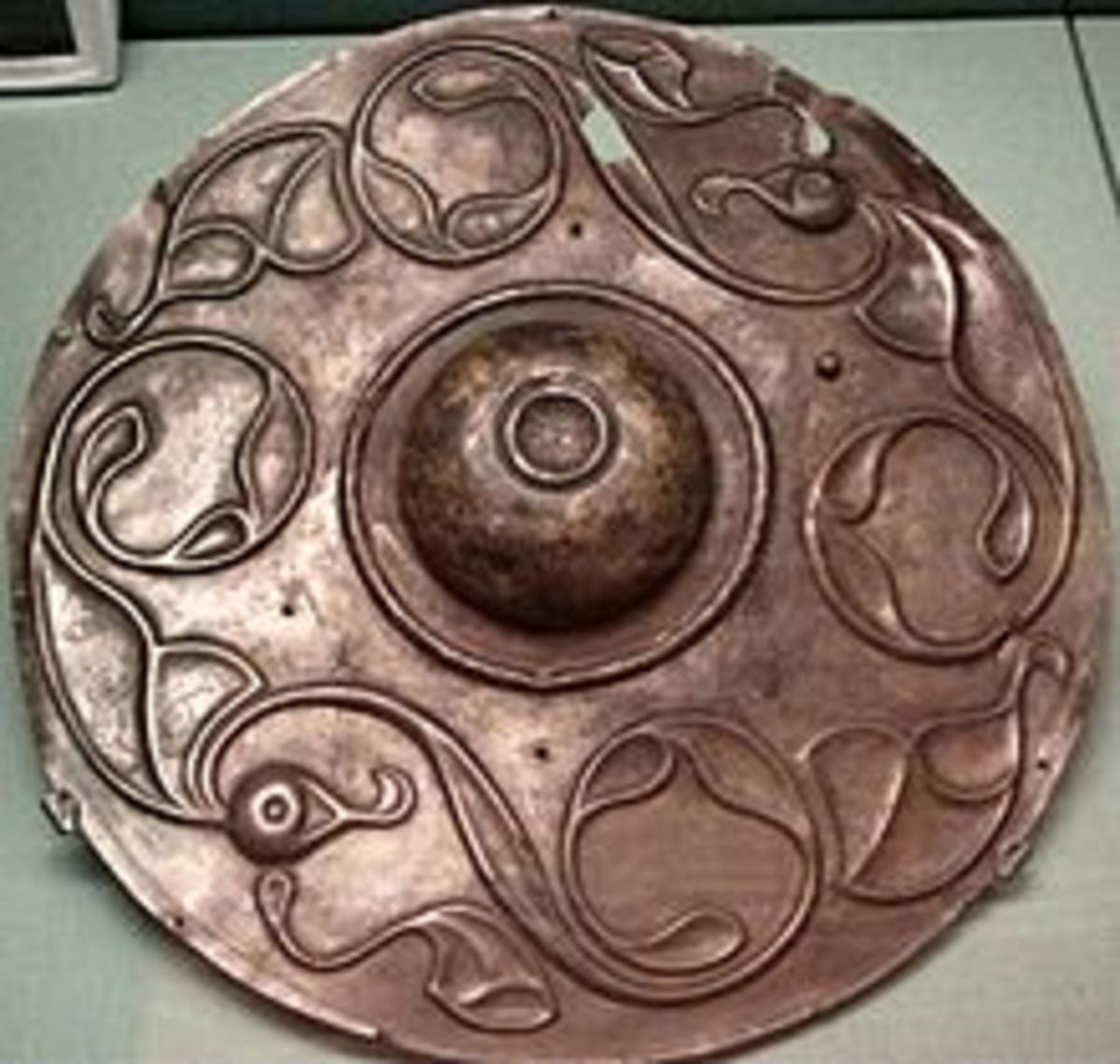 Round shields used by the Celtic warriors unearthed in Spain.