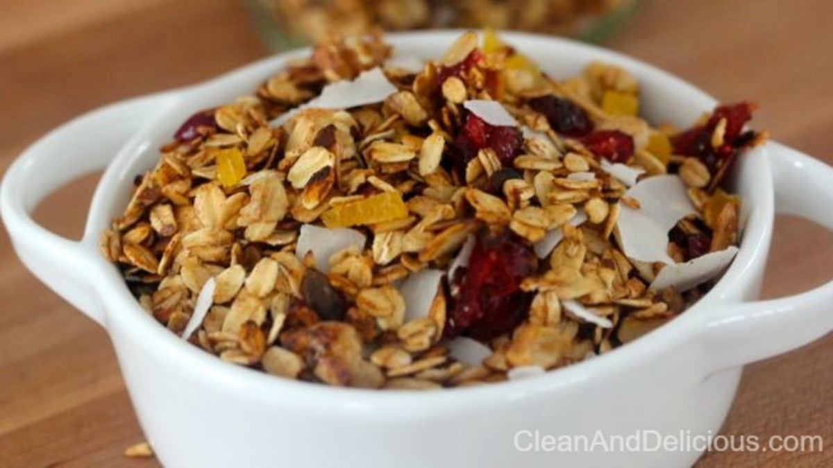 4. Clean Eating Stovetop Granola