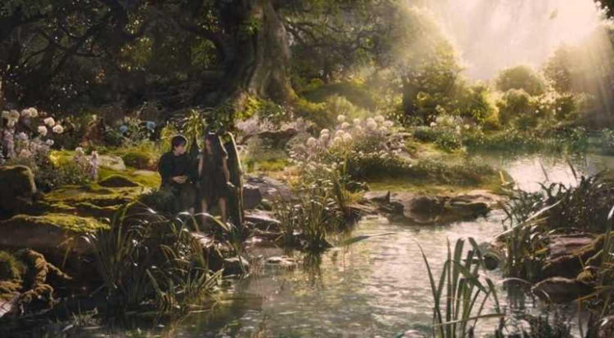 Stefan and Maleficent in the Moors from Disney's Maleficent