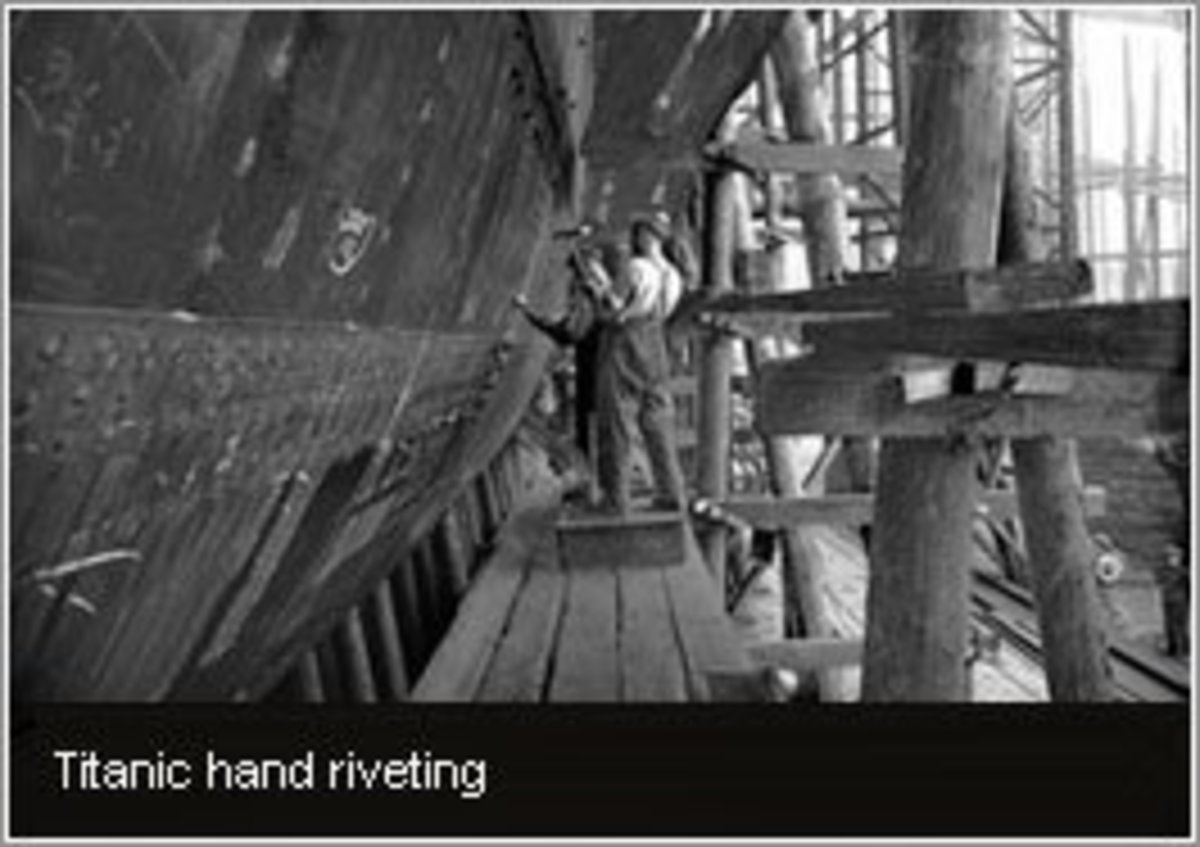 Riveting the hull plates
