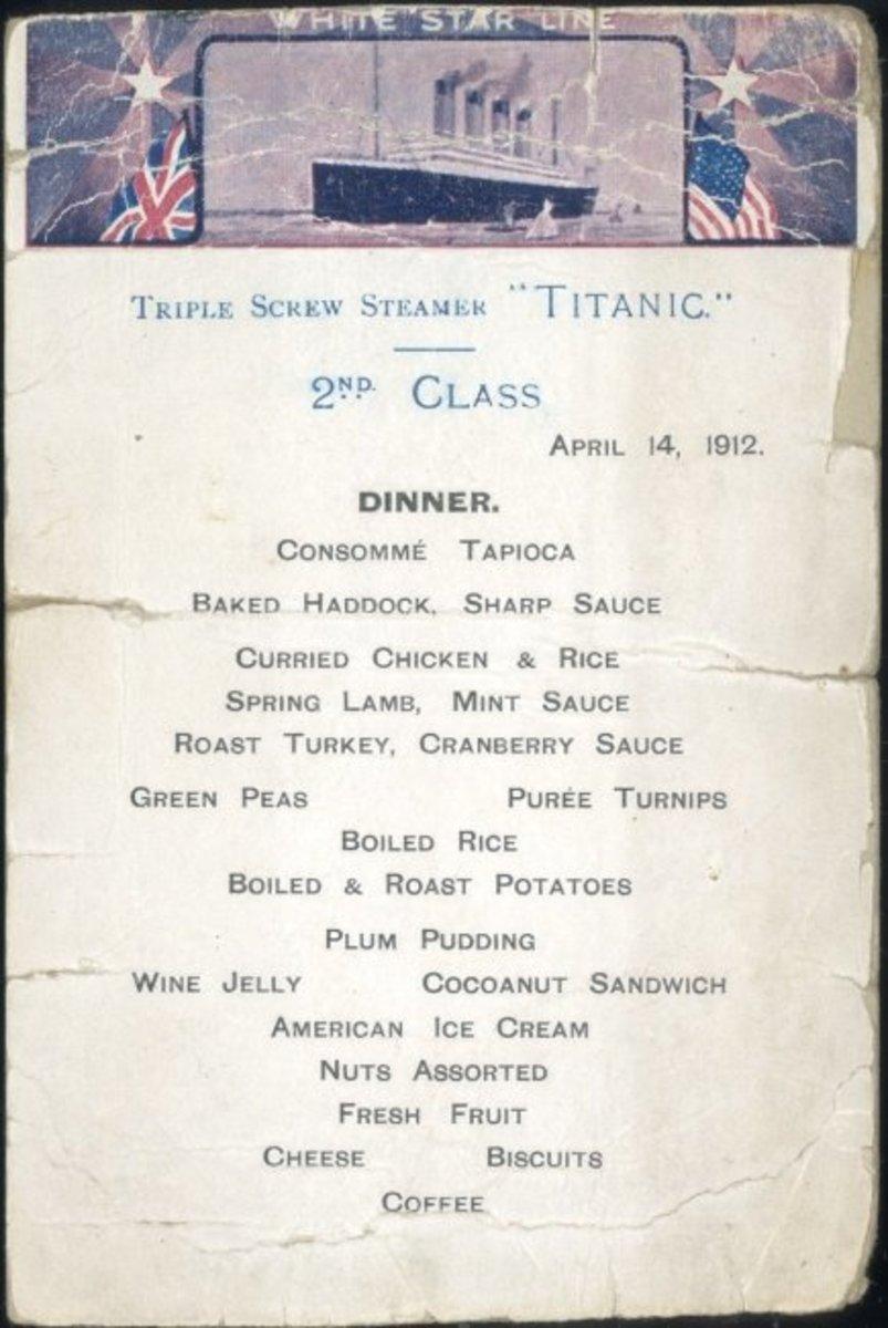 Second class menu