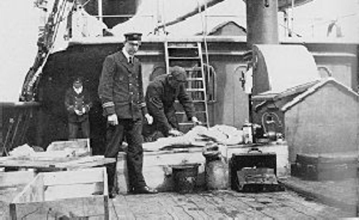 Embalming bodies on the CS Mackay Bennett