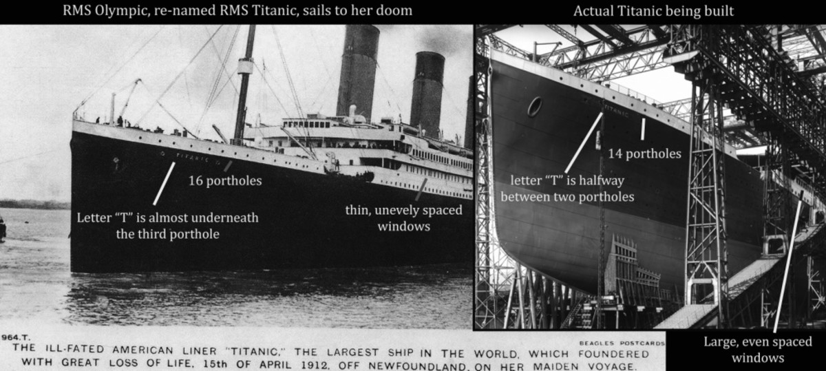 Evidence of substituting Olympic for Titanic