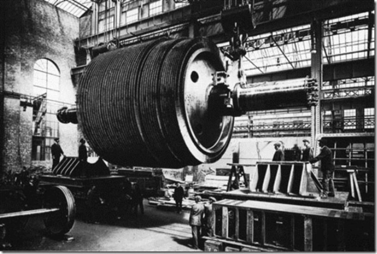 Titanic rotor for centre turbine shaft