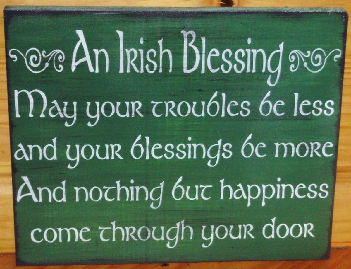 An Irish blessing.