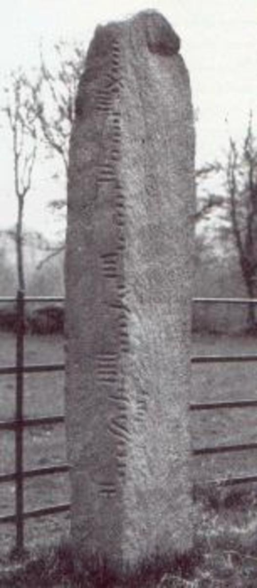 Ogham stone at Coolmagort, Country Kerry.