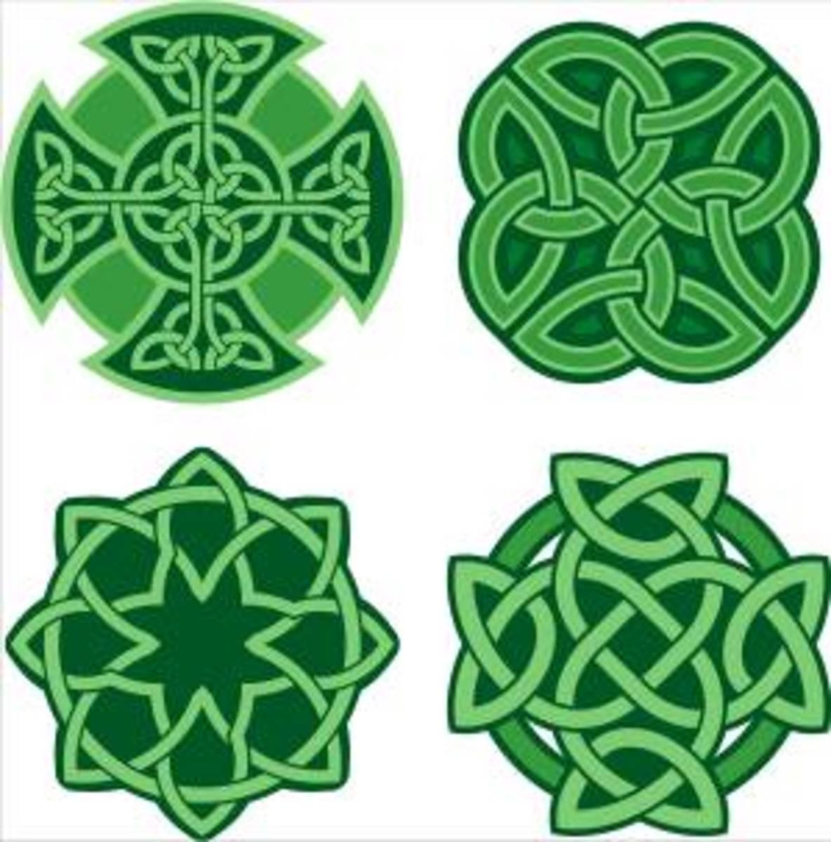 Celtic Gaelic knots - symbols of the Gaelic culture in Ireland.