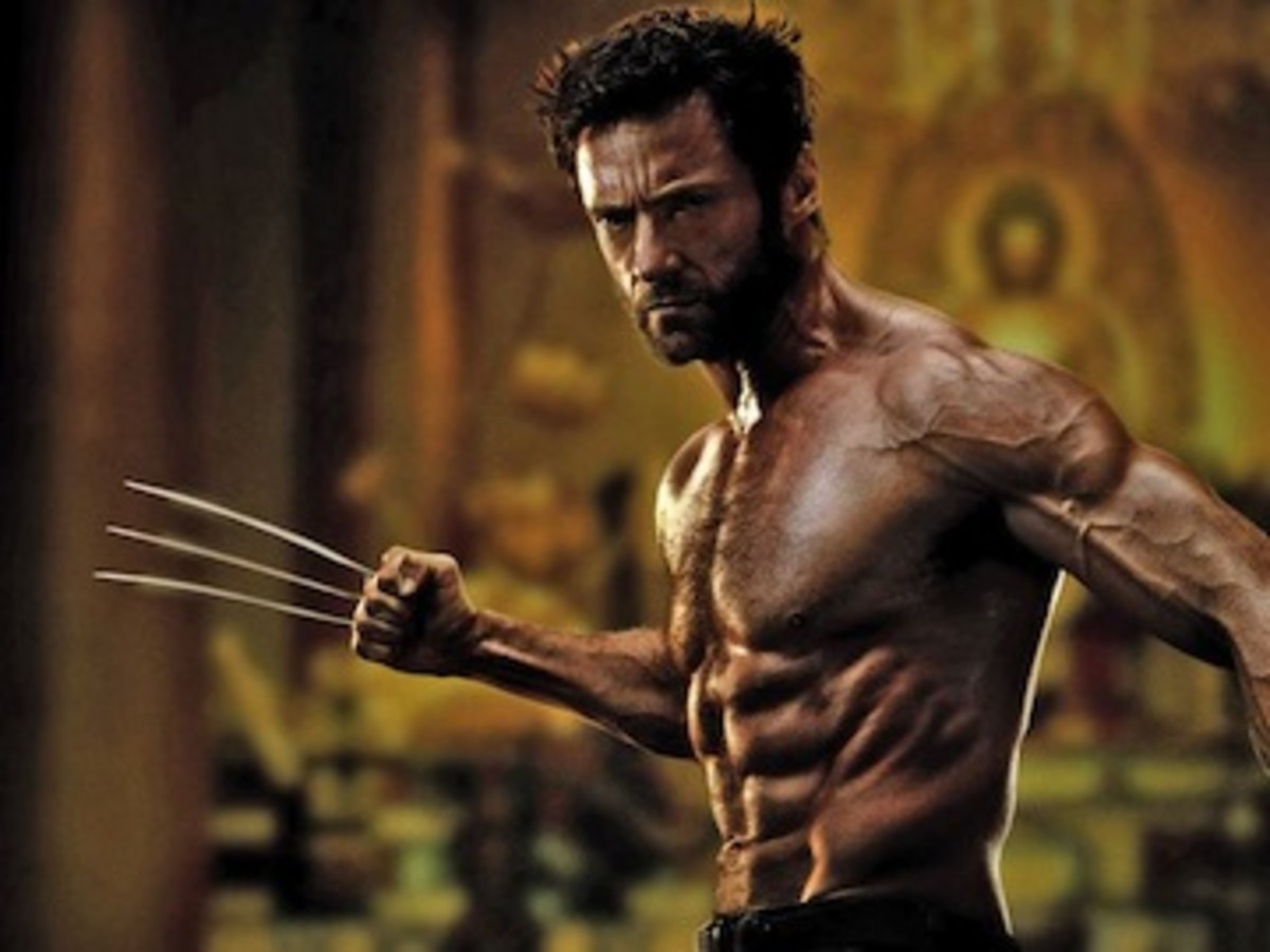 This picture is of Hugh Jackman playing the Wolverine of The X Men. He does the 5:2 diet that is intermittent fasting.