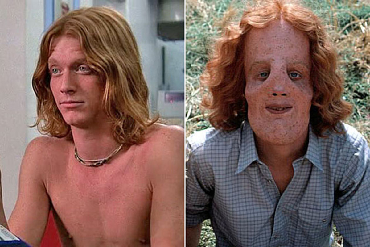 Eric Stoltz (left) before the makeup