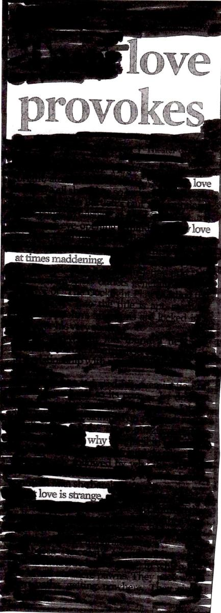 An example of a blackout poem.