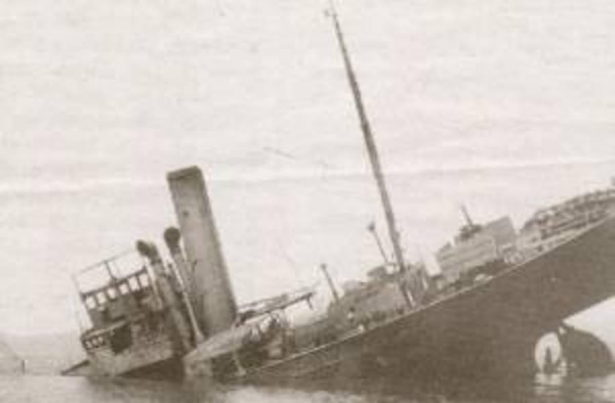 HMT Hammond sinking