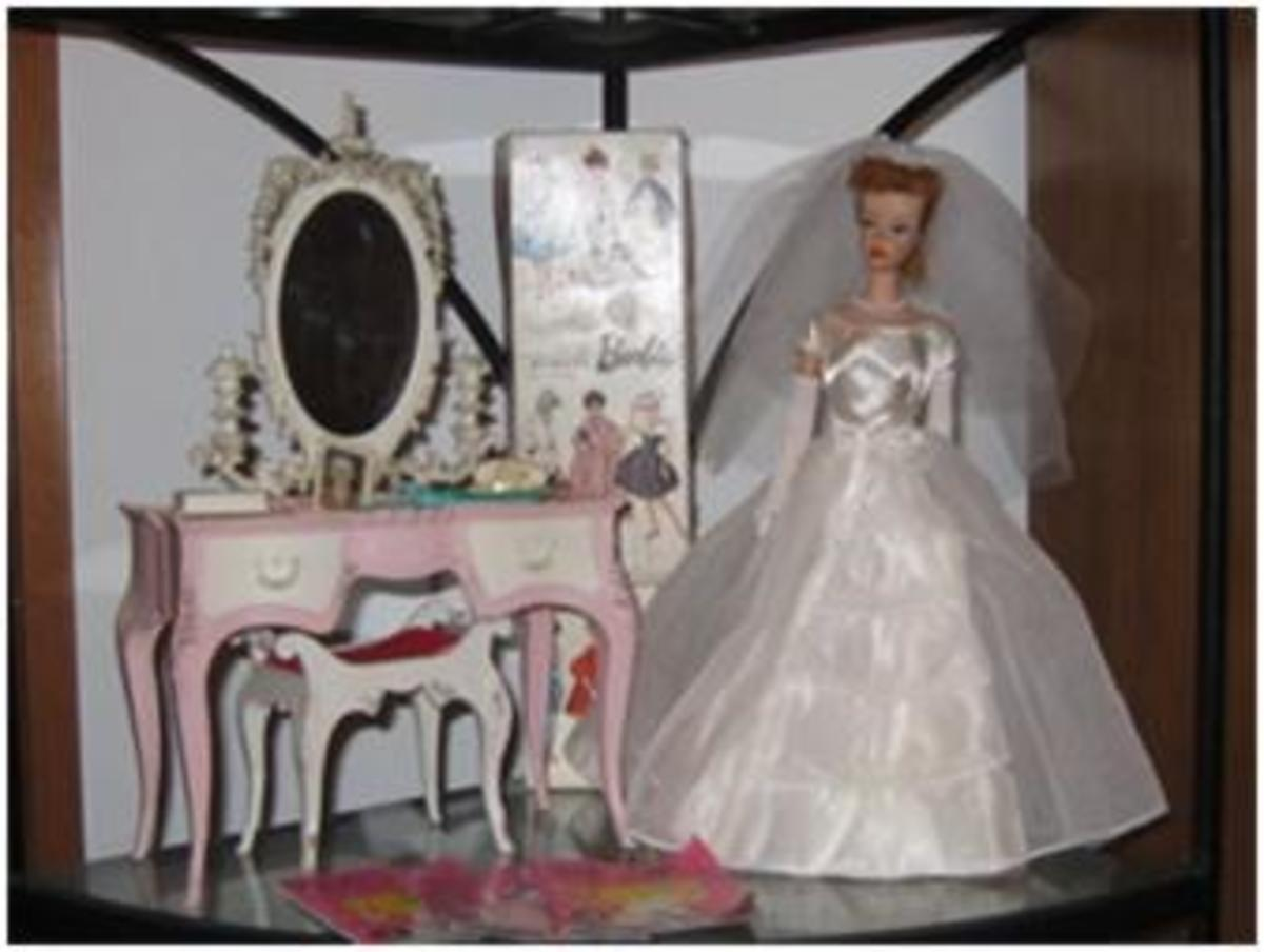 Barbie, with her Susy Goose Vanity.