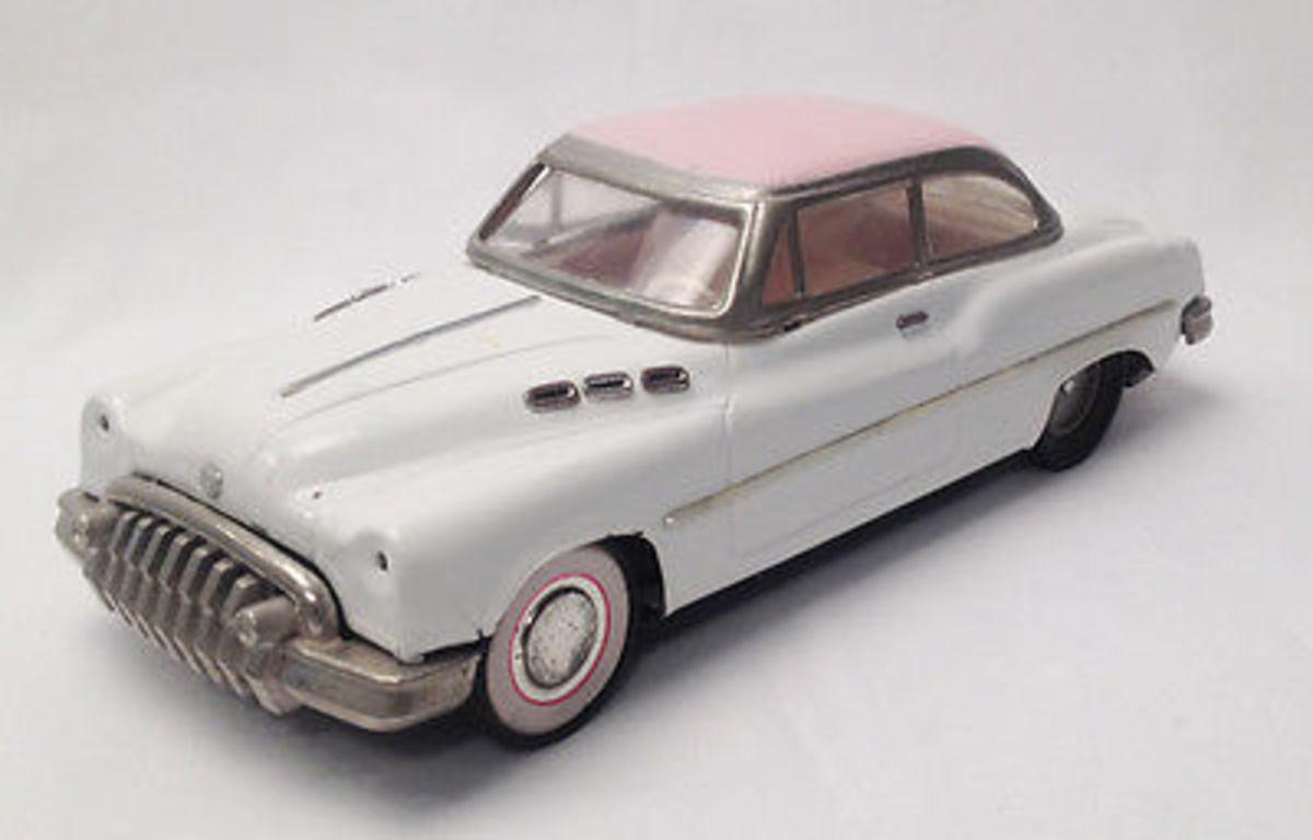 Vintage metal car; 1950s
