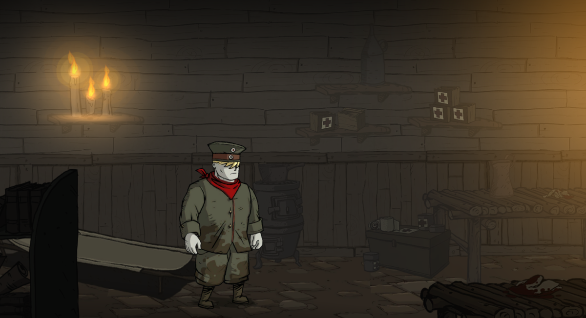 Karl explores the Prison Camp of Valiant Hearts.