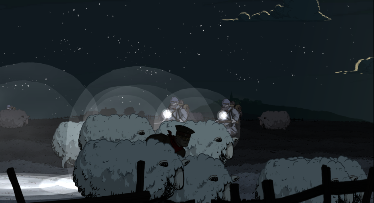 Karl hides from soldiers patrolling Vaubecort in Valiant Hearts.