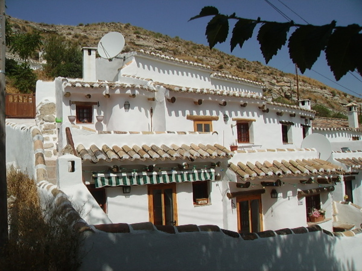 Cave house in the village of Galera.