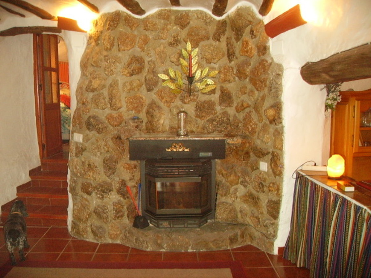 Another type of wood pellet stove.