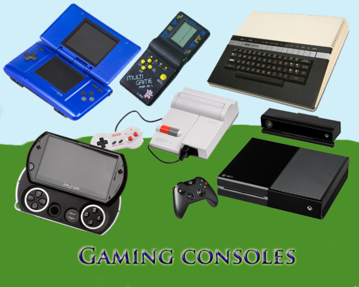 Old and new gaming consoles
