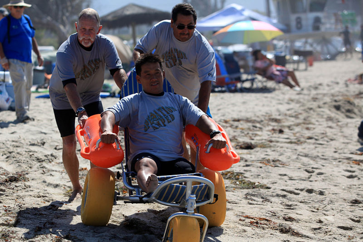 Beach friendly wheelchair