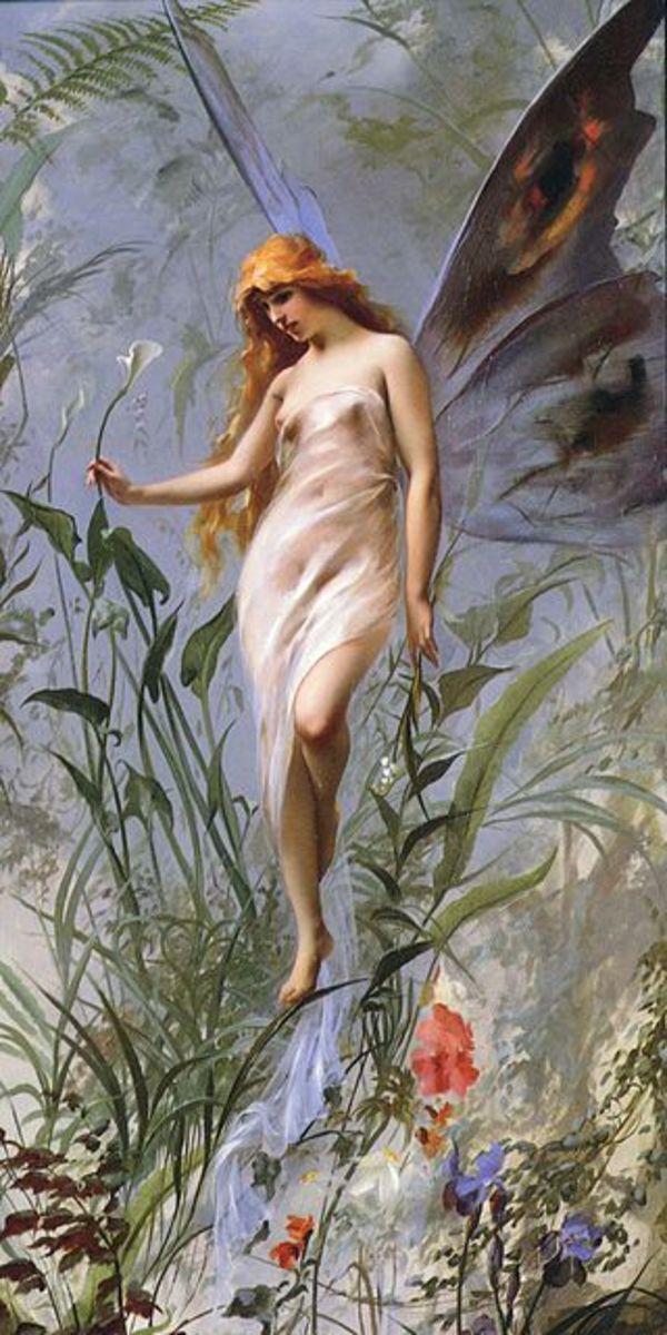 Painting by Falero Luis Ricardo (1888)