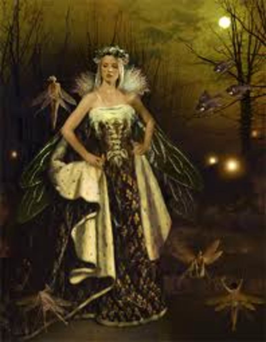 Medb hErenn a Gaelic goddess who later became part of Gaelic faerie lore.