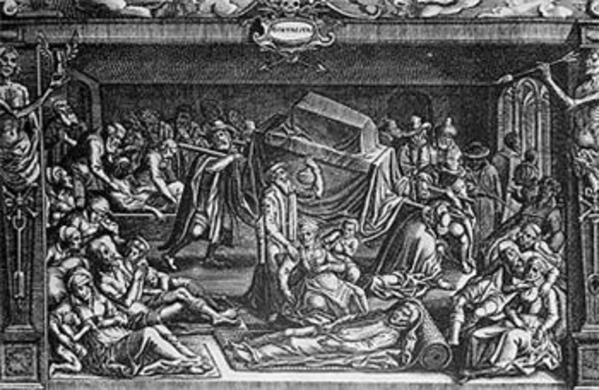 Medieval Drawing of the Black Death