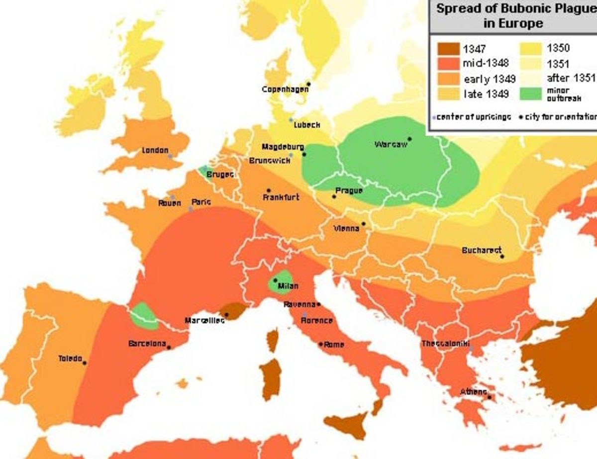 Bubonic Plague Statistics Map