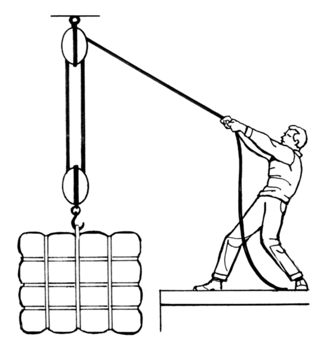 A pulley is a type of simple machine many kids may be familiar with