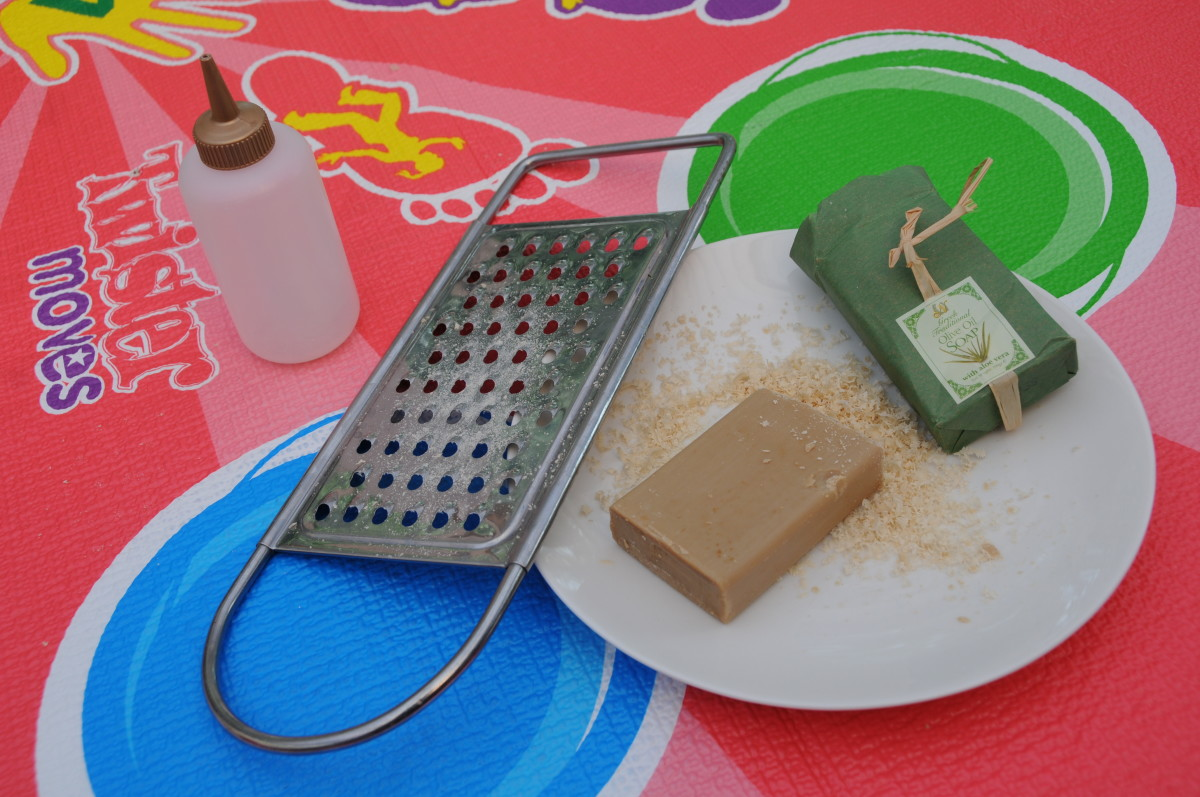 Grated olive oil soap