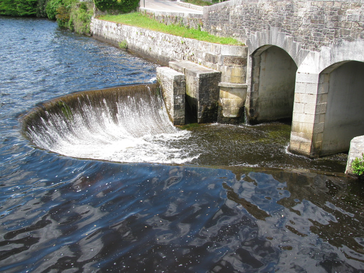 the Weir leading the waters down to the River
