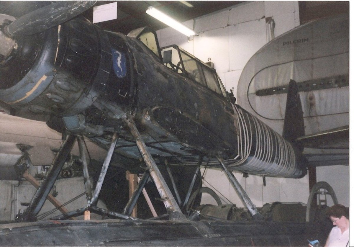 The Ar-196 at the Paul E. Garber Facility, with its wings removed.