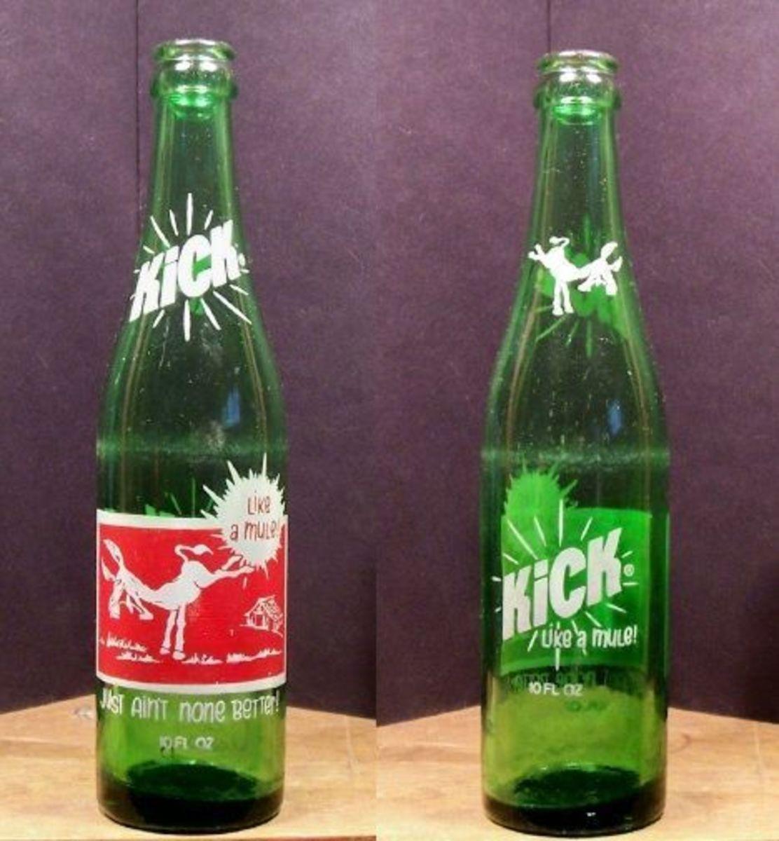 Kick Like a Mule Old Vintage ACL 10 oz Soda Pop Bottle Variation #1 426.