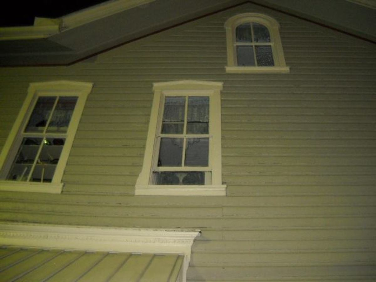 Same house. No activity despite stories of a ghost haunting the top floor.