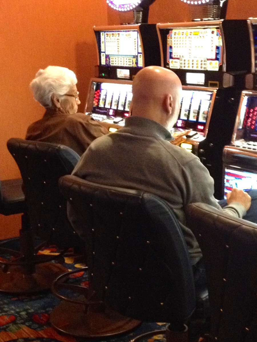 Me and Granny at the slots