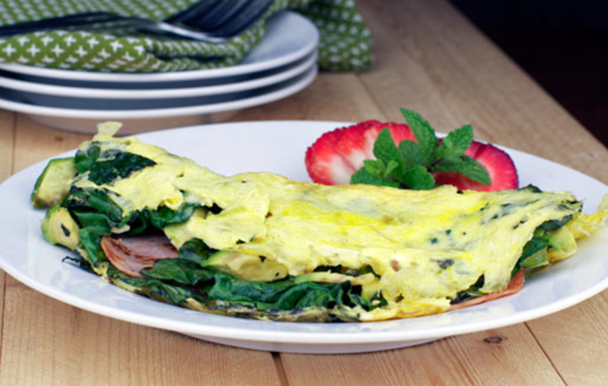 A delicous omelette with veggies and a little protein will start your day with energy.