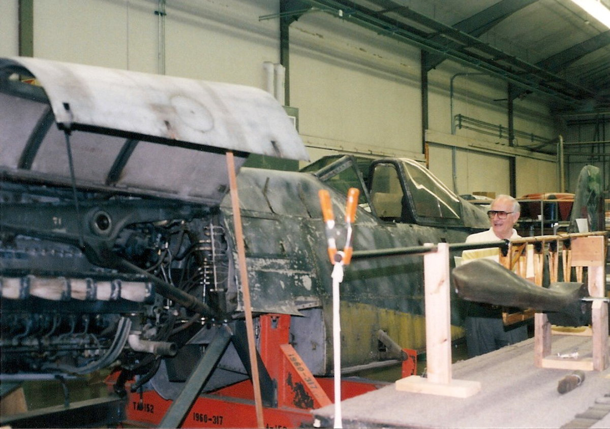 The Ta-152 at the Paul E. Garber Facility, Silver Hill, MD, April 1998.